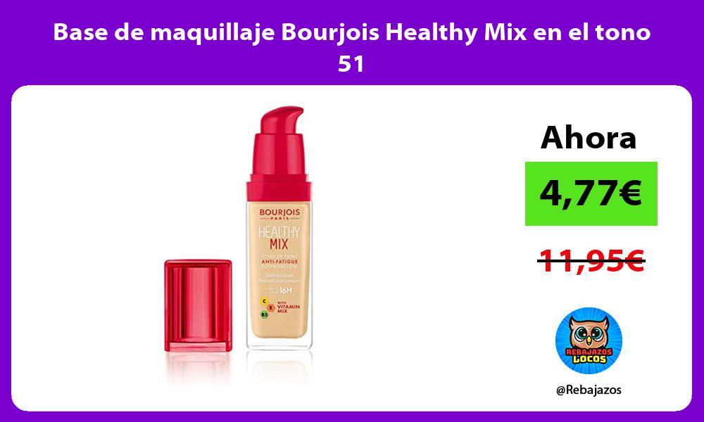 Base de maquillaje Bourjois Healthy Mix en el tono 51