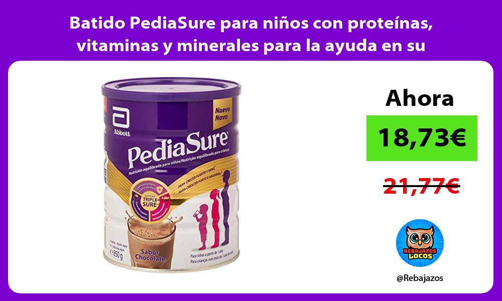 Batido PediaSure para ninos con proteinas vitaminas y minerales para la ayuda en su crecimiento