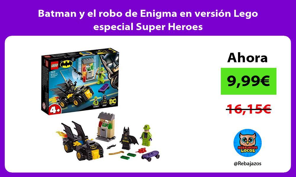 Batman y el robo de Enigma en version Lego especial Super Heroes