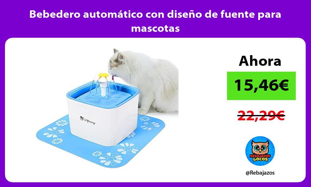 Bebedero automatico con diseno de fuente para mascotas