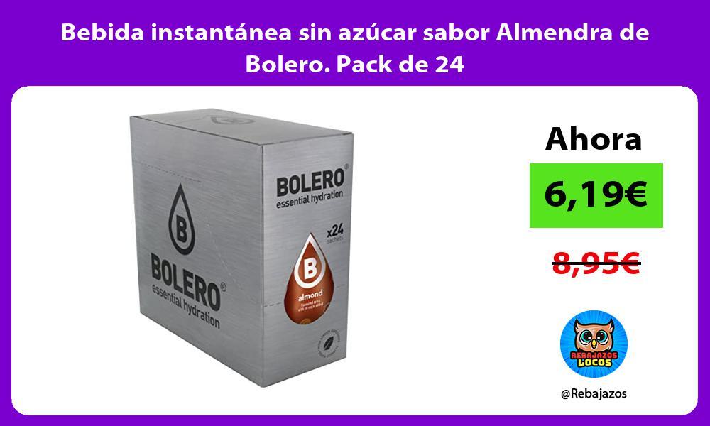 Bebida instantanea sin azucar sabor Almendra de Bolero Pack de 24
