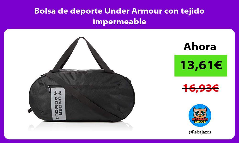 Bolsa de deporte Under Armour con tejido impermeable