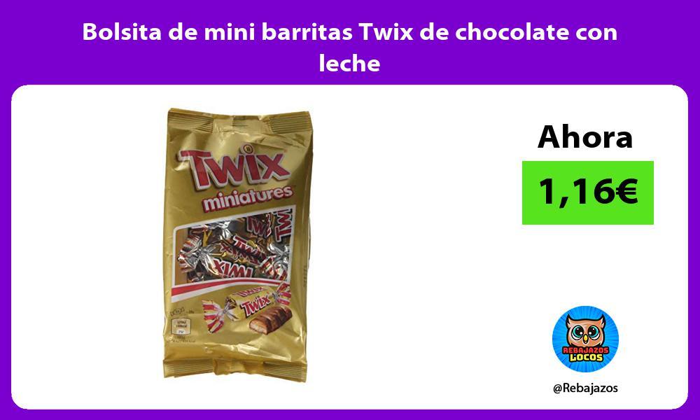 Bolsita de mini barritas Twix de chocolate con leche