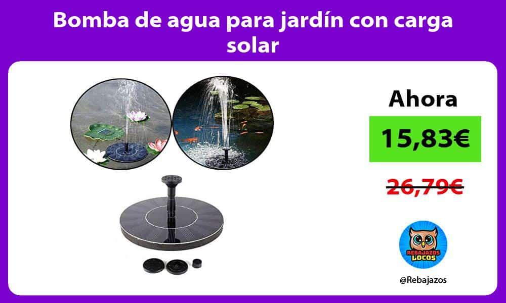 Bomba de agua para jardin con carga solar