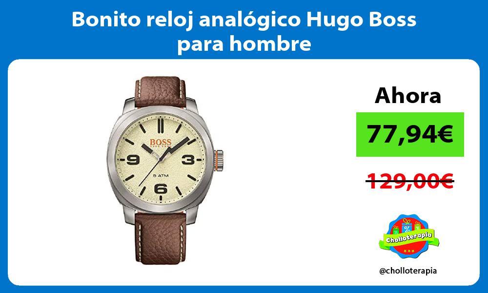Bonito reloj analogico Hugo Boss para hombre