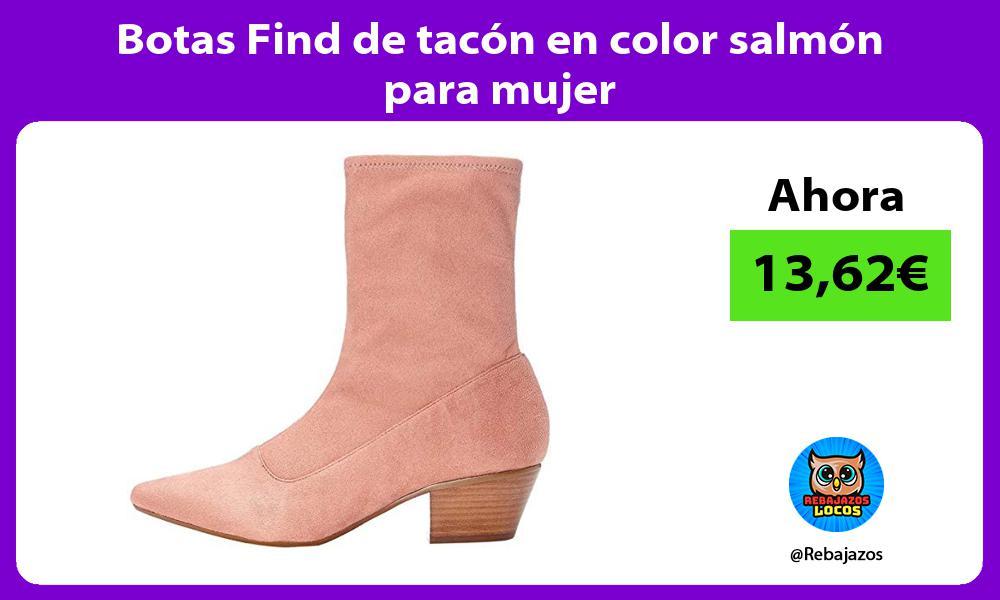 Botas Find de tacon en color salmon para mujer
