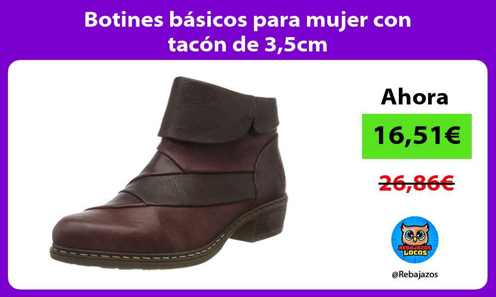 Botines basicos para mujer con tacon de 35cm