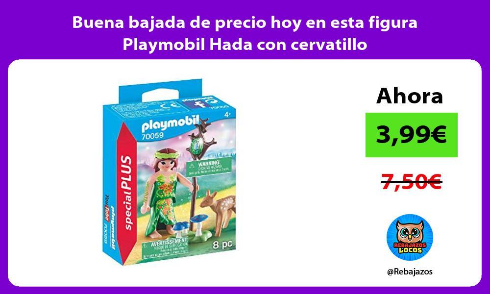 Buena bajada de precio hoy en esta figura Playmobil Hada con cervatillo