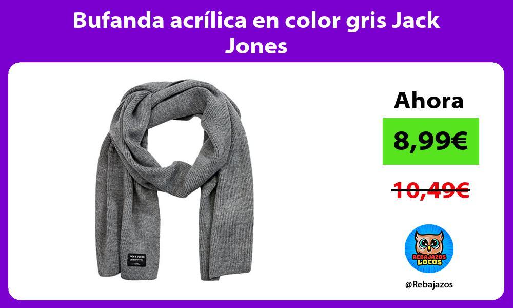 Bufanda acrilica en color gris Jack Jones
