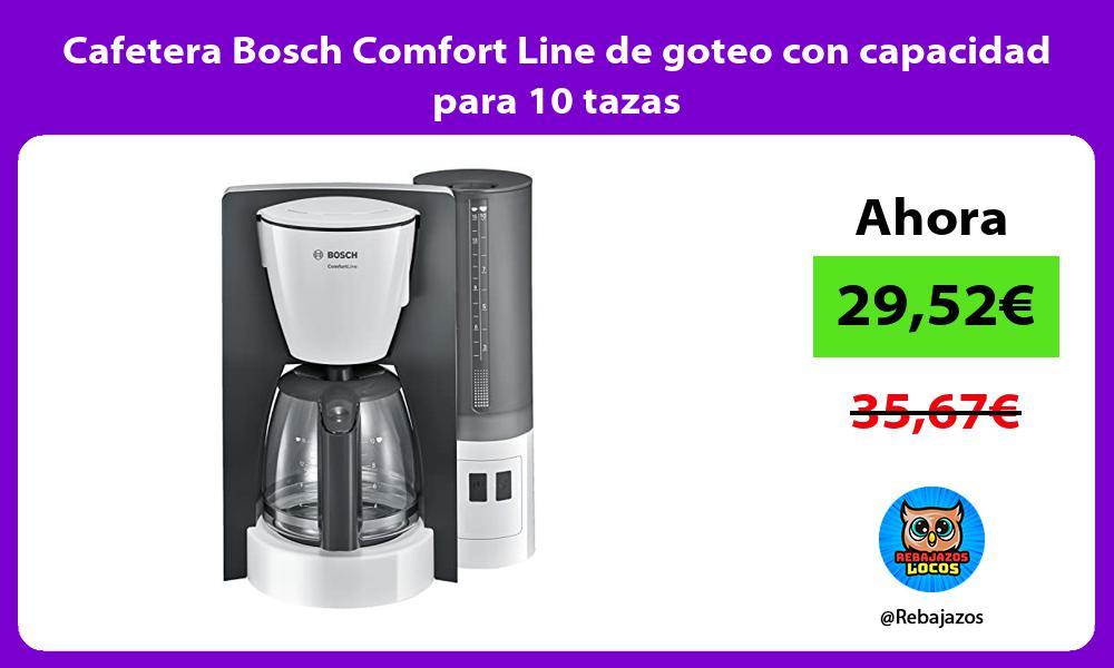 Cafetera Bosch Comfort Line de goteo con capacidad para 10 tazas