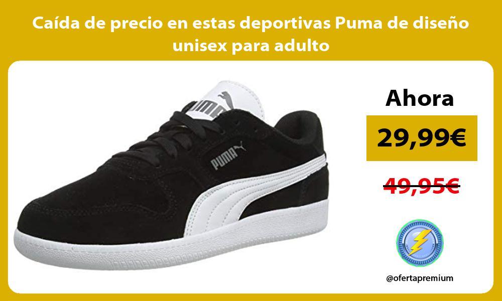 Caida de precio en estas deportivas Puma de diseno unisex para adulto