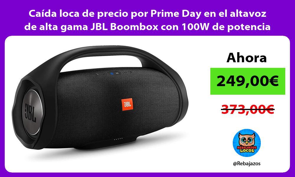 Caida loca de precio por Prime Day en el altavoz de alta gama JBL Boombox con 100W de potencia