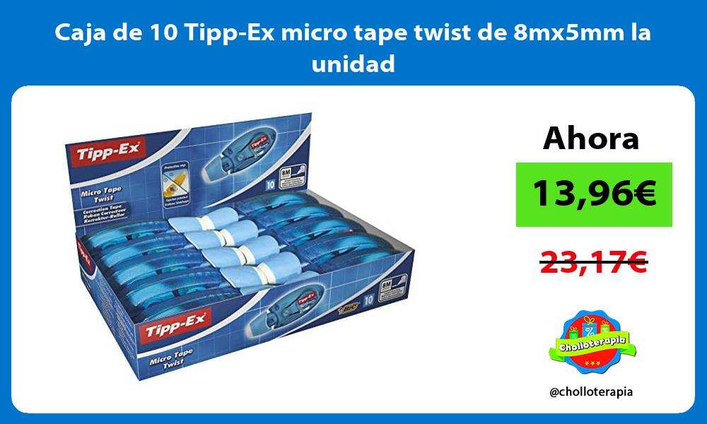 Caja de 10 Tipp Ex micro tape twist de 8mx5mm la unidad