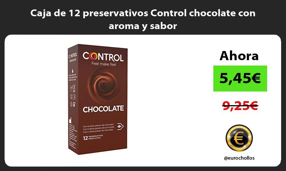 Caja de 12 preservativos Control chocolate con aroma y sabor