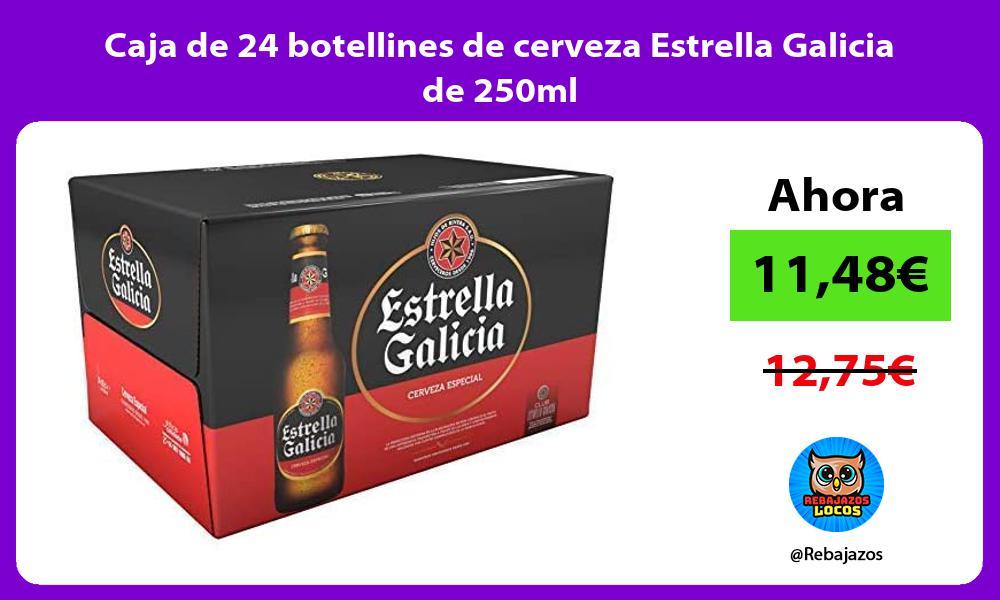 Caja de 24 botellines de cerveza Estrella Galicia de 250ml