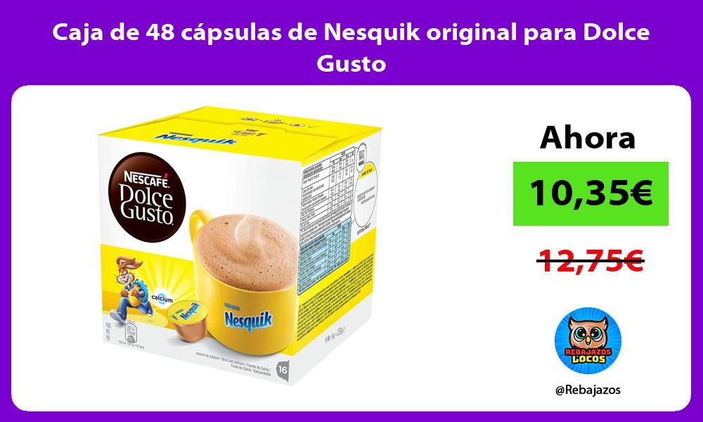 Caja de 48 capsulas de Nesquik original para Dolce Gusto