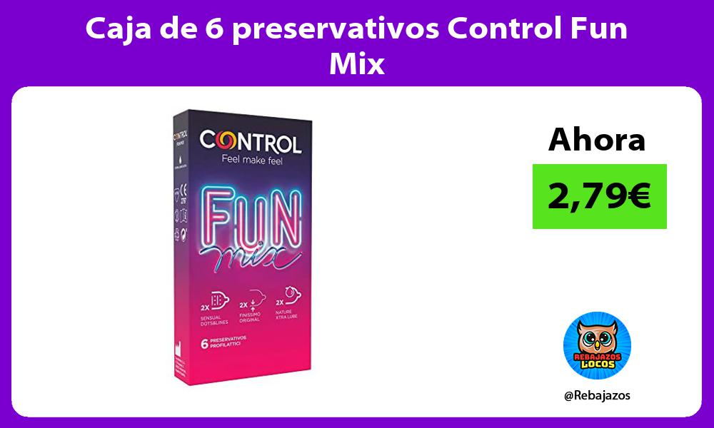 Caja de 6 preservativos Control Fun Mix