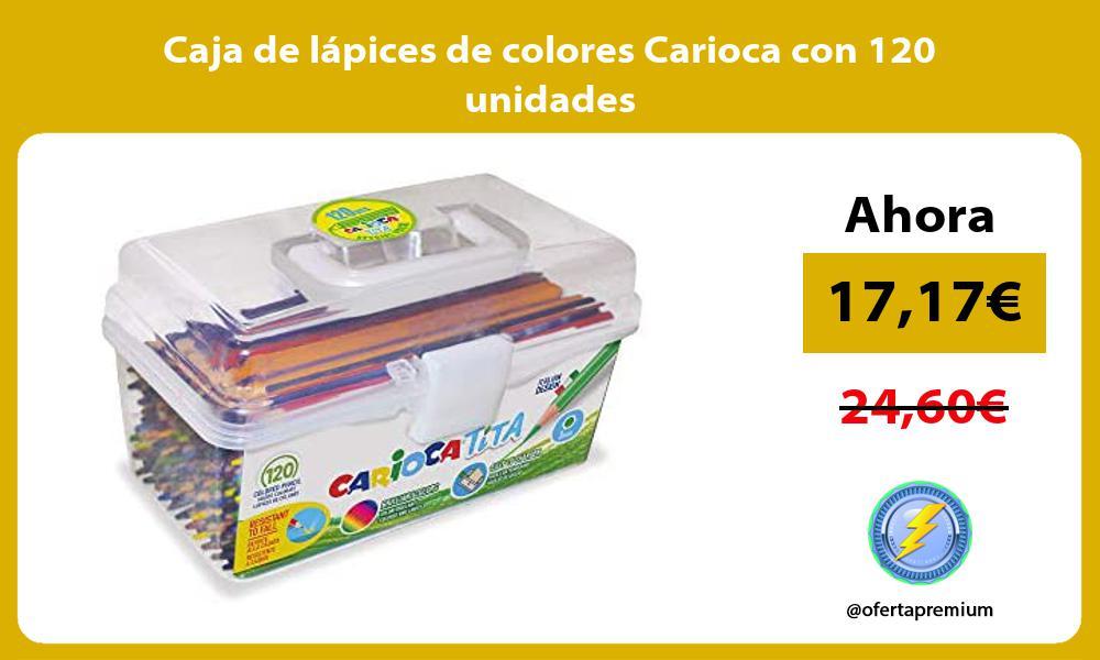 Caja de lapices de colores Carioca con 120 unidades