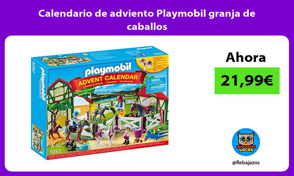 Calendario de adviento Playmobil granja de caballos