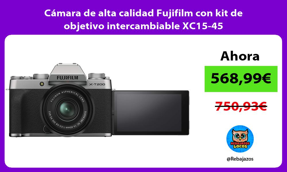 Camara de alta calidad Fujifilm con kit de objetivo intercambiable XC15 45