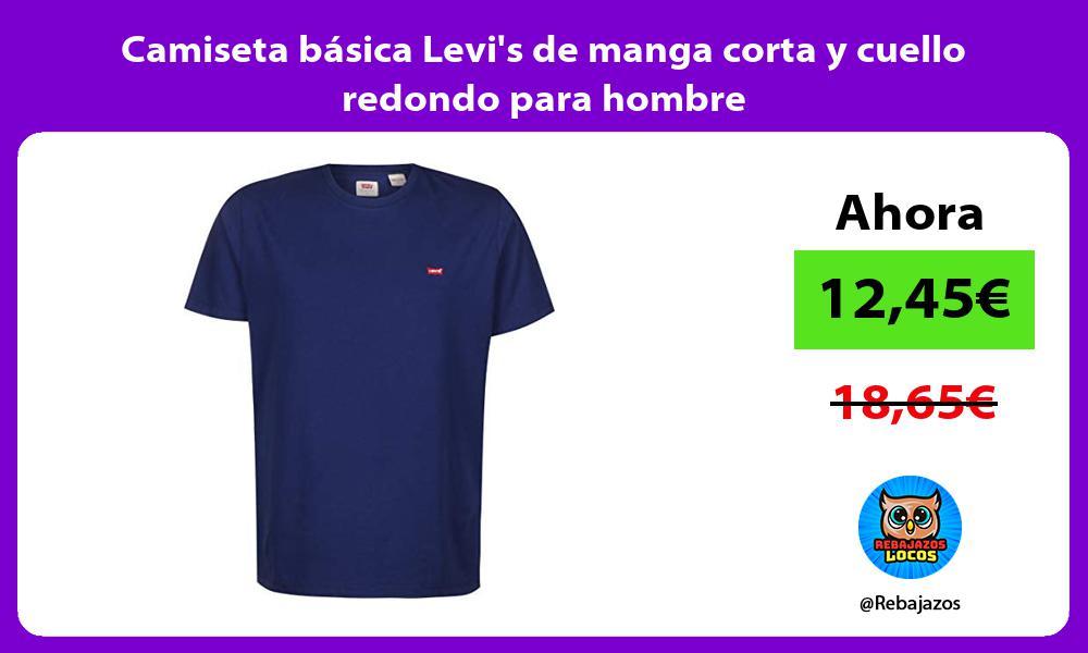 Camiseta basica Levis de manga corta y cuello redondo para hombre
