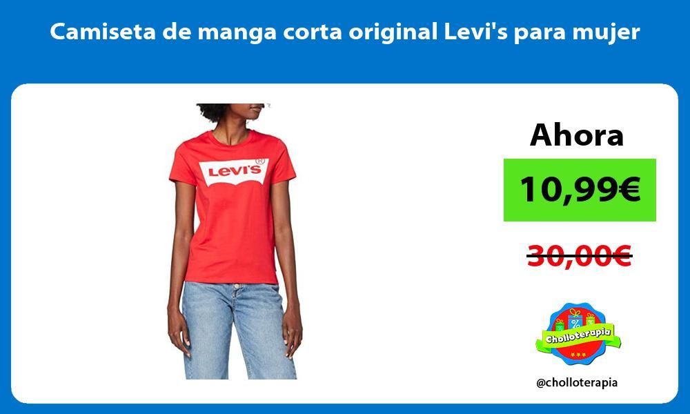 Camiseta de manga corta original Levis para mujer