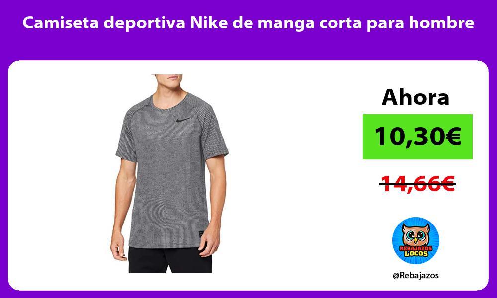 Camiseta deportiva Nike de manga corta para hombre