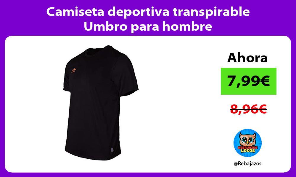 Camiseta deportiva transpirable Umbro para hombre