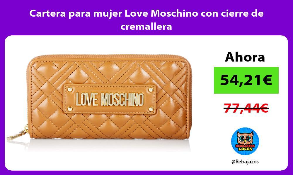 Cartera para mujer Love Moschino con cierre de cremallera