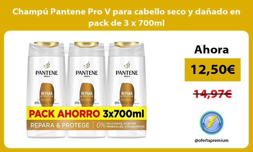 Champu Pantene Pro V para cabello seco y danado en pack de 3 x 700ml