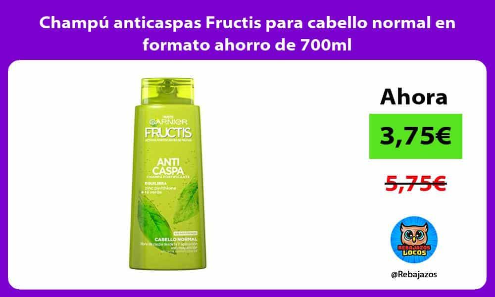 Champu anticaspas Fructis para cabello normal en formato ahorro de 700ml