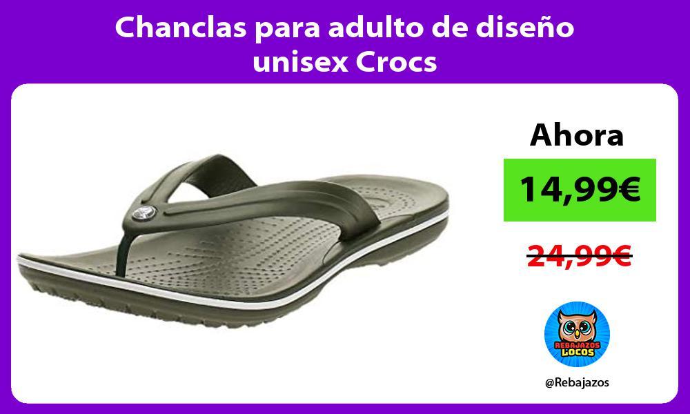 Chanclas para adulto de diseno unisex Crocs