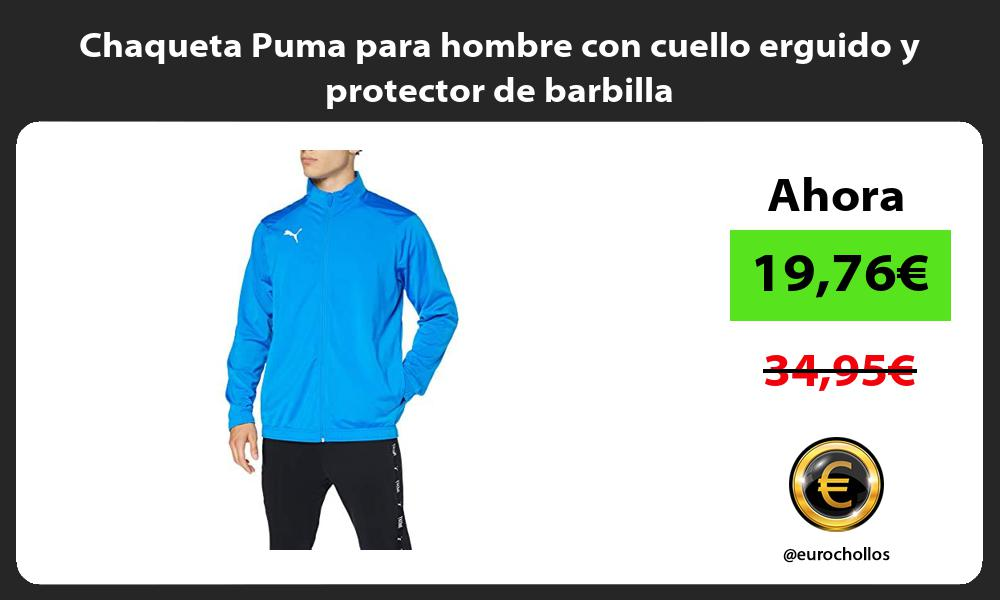Chaqueta Puma para hombre con cuello erguido y protector de barbilla