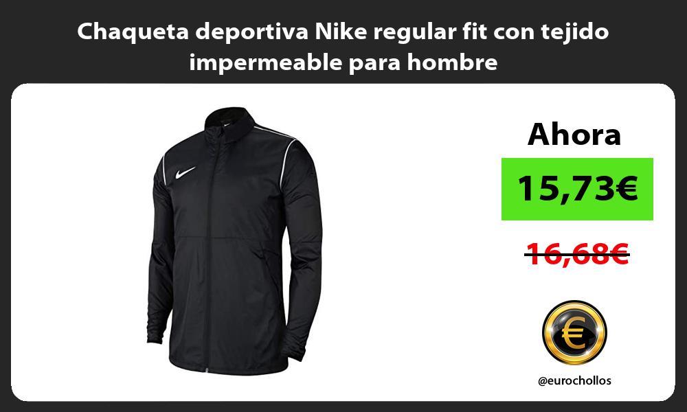 Chaqueta deportiva Nike regular fit con tejido impermeable para hombre