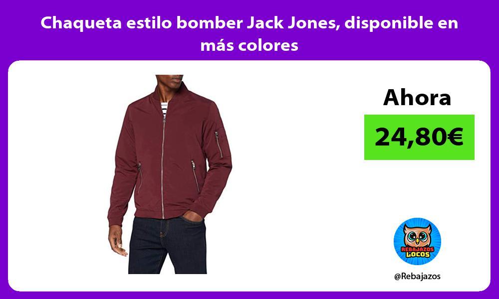 Chaqueta estilo bomber Jack Jones disponible en mas colores