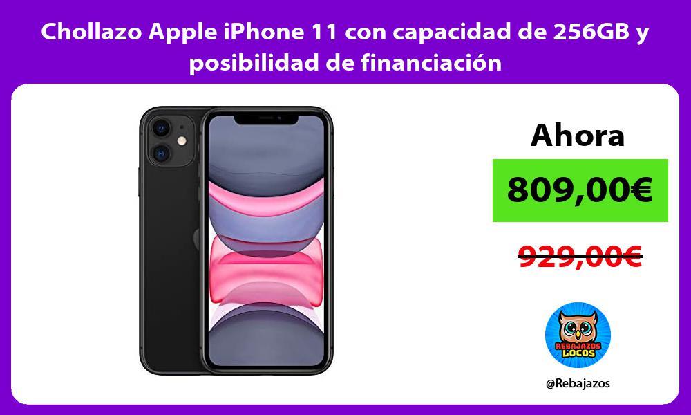 Chollazo Apple iPhone 11 con capacidad de 256GB y posibilidad de financiacion