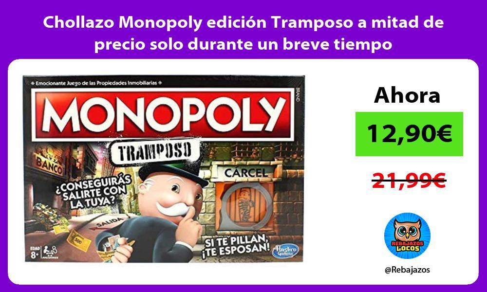 Chollazo Monopoly edicion Tramposo a mitad de precio solo durante un breve tiempo