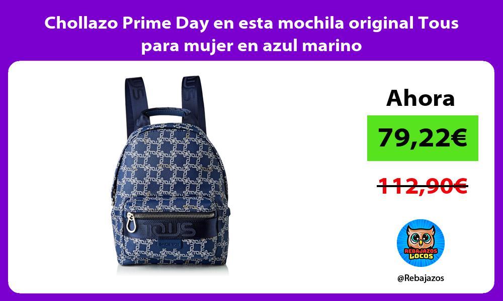 Chollazo Prime Day en esta mochila original Tous para mujer en azul marino