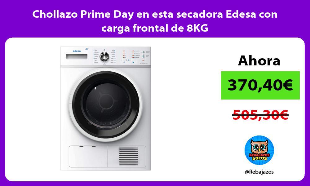 Chollazo Prime Day en esta secadora Edesa con carga frontal de 8KG