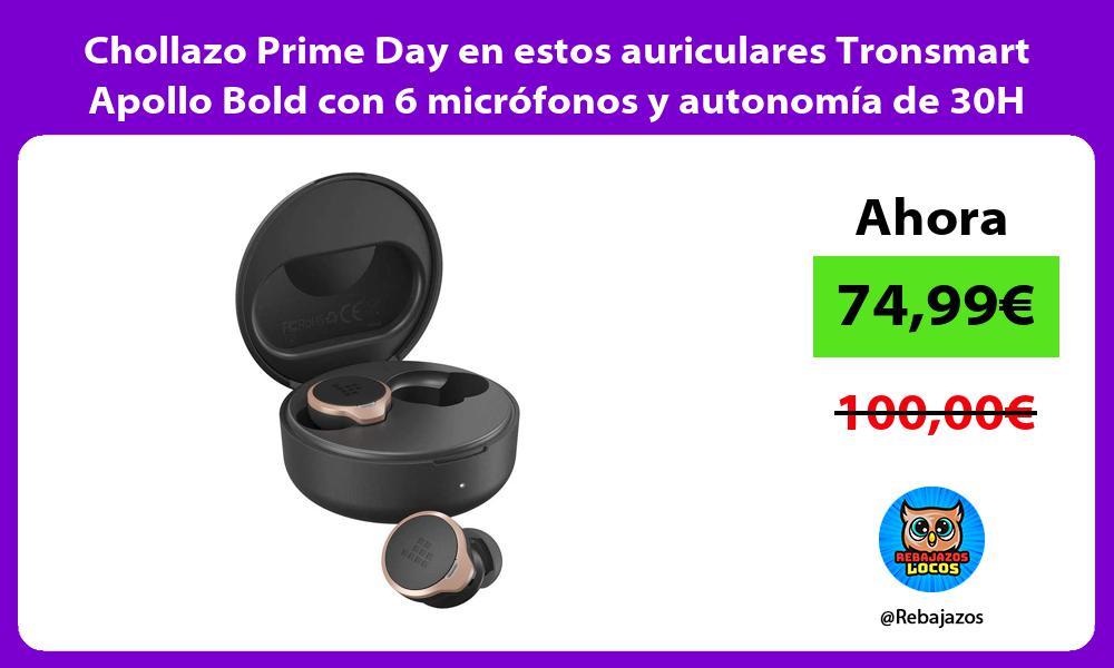 Chollazo Prime Day en estos auriculares Tronsmart Apollo Bold con 6 microfonos y autonomia de 30H