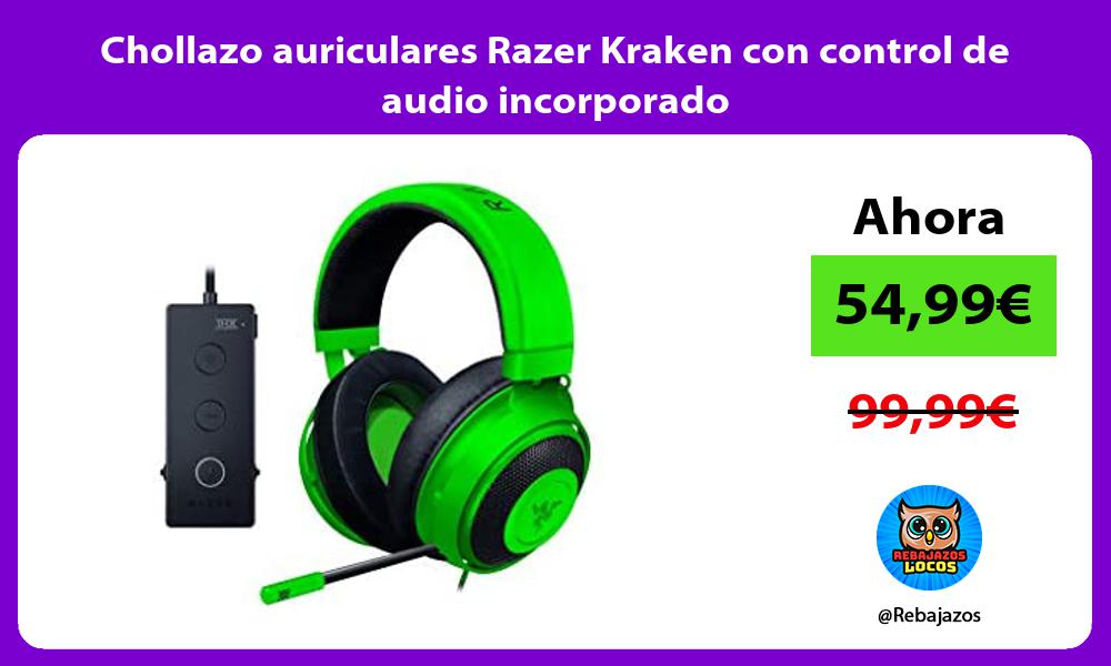 Chollazo auriculares Razer Kraken con control de audio incorporado