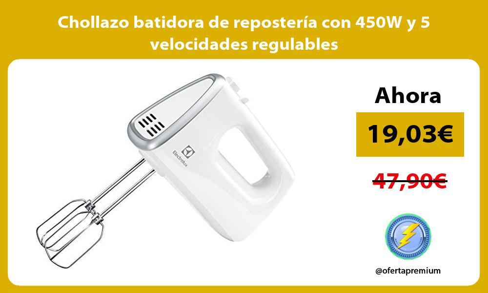 Chollazo batidora de reposteria con 450W y 5 velocidades regulables