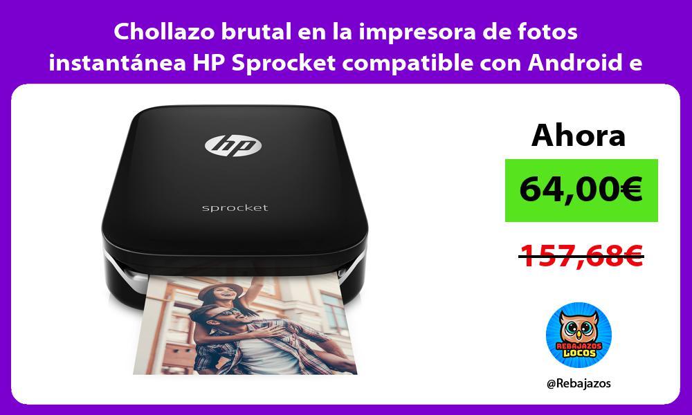 Chollazo brutal en la impresora de fotos instantanea HP Sprocket compatible con Android e iOS