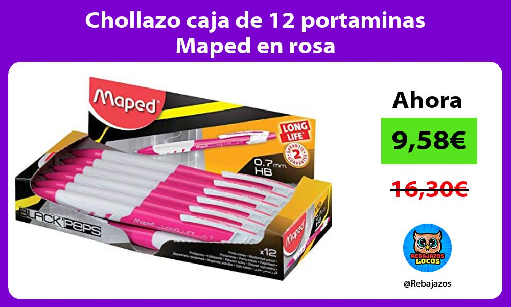 Chollazo caja de 12 portaminas Maped en rosa