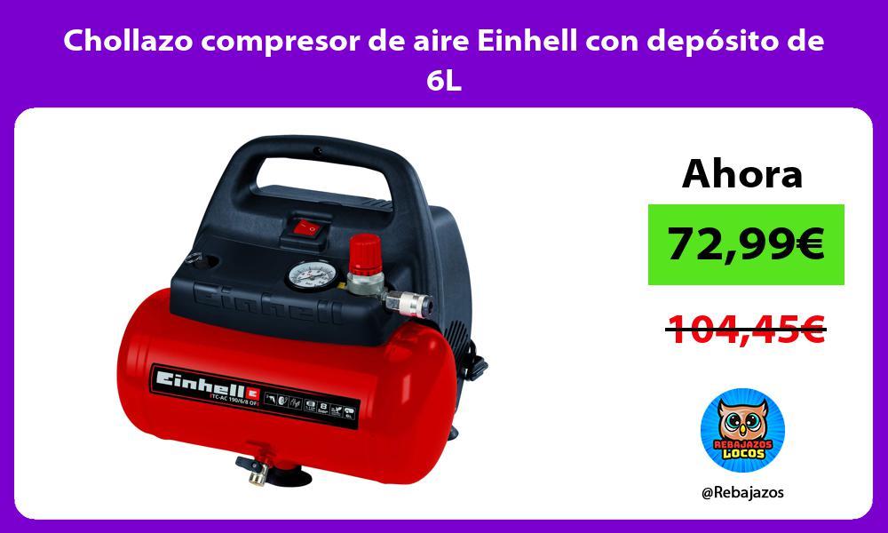 Chollazo compresor de aire Einhell con deposito de 6L