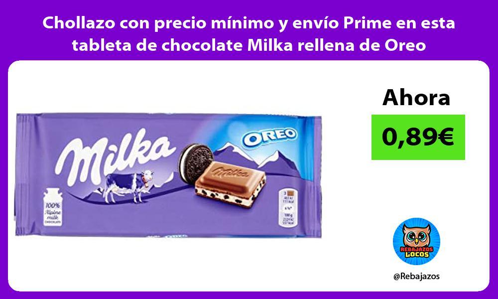 Chollazo con precio minimo y envio Prime en esta tableta de chocolate Milka rellena de Oreo
