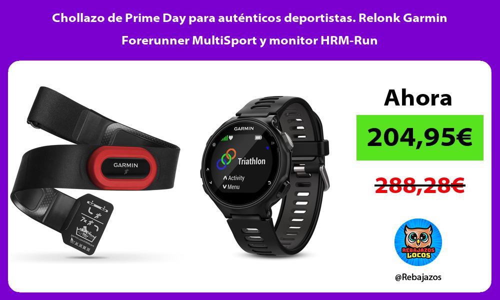 Chollazo de Prime Day para autenticos deportistas Relonk Garmin Forerunner MultiSport y monitor HRM Run