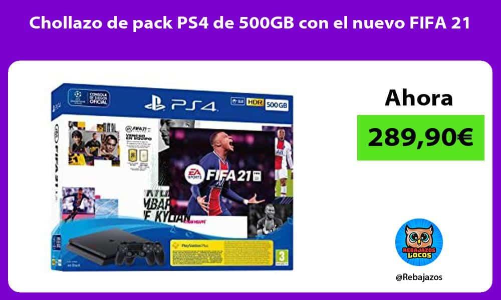 Chollazo de pack PS4 de 500GB con el nuevo FIFA 21