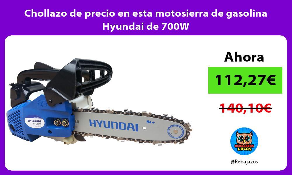 Chollazo de precio en esta motosierra de gasolina Hyundai de 700W