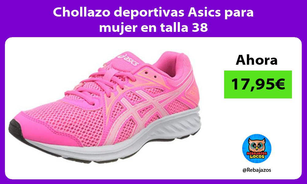 Chollazo deportivas Asics para mujer en talla 38
